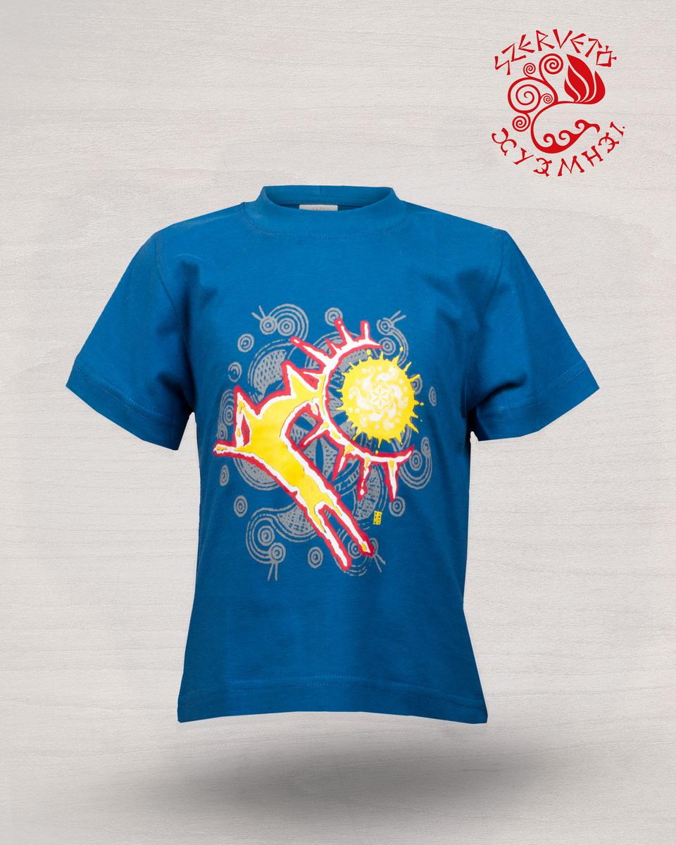 67d3bbd721 Csodaszarvas póló - kék | Gyermekpólók | Szervető webáruház
