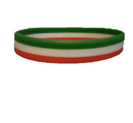 3671eb54ea Szilikon karkötő - nemzeti trikolor