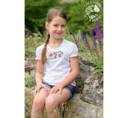 Szervető-tulipános lányka póló-fehér af2a61b2f0